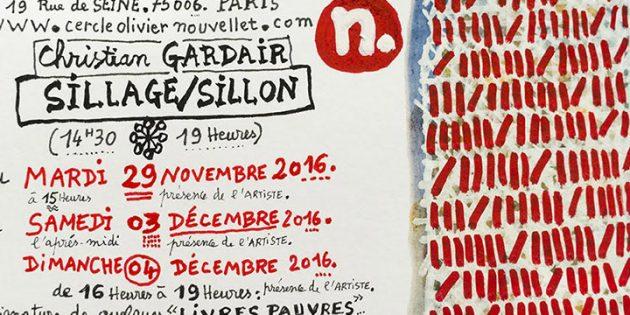 Christian Gardair : Sillage / Sillon